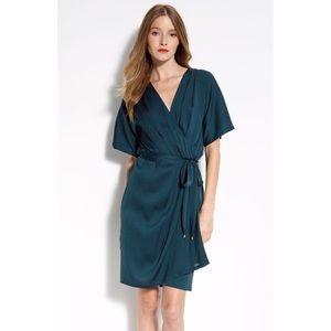 Diane von Furstenberg Silk Genevieve Dress Teal 10